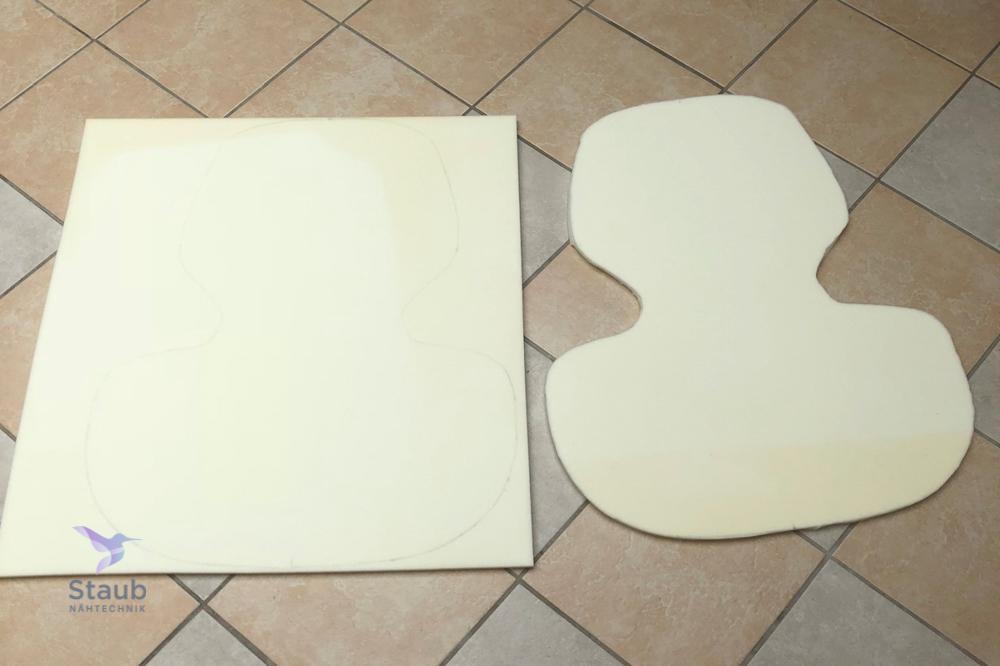 Grundform für Auflage des Forest Stuhl`s