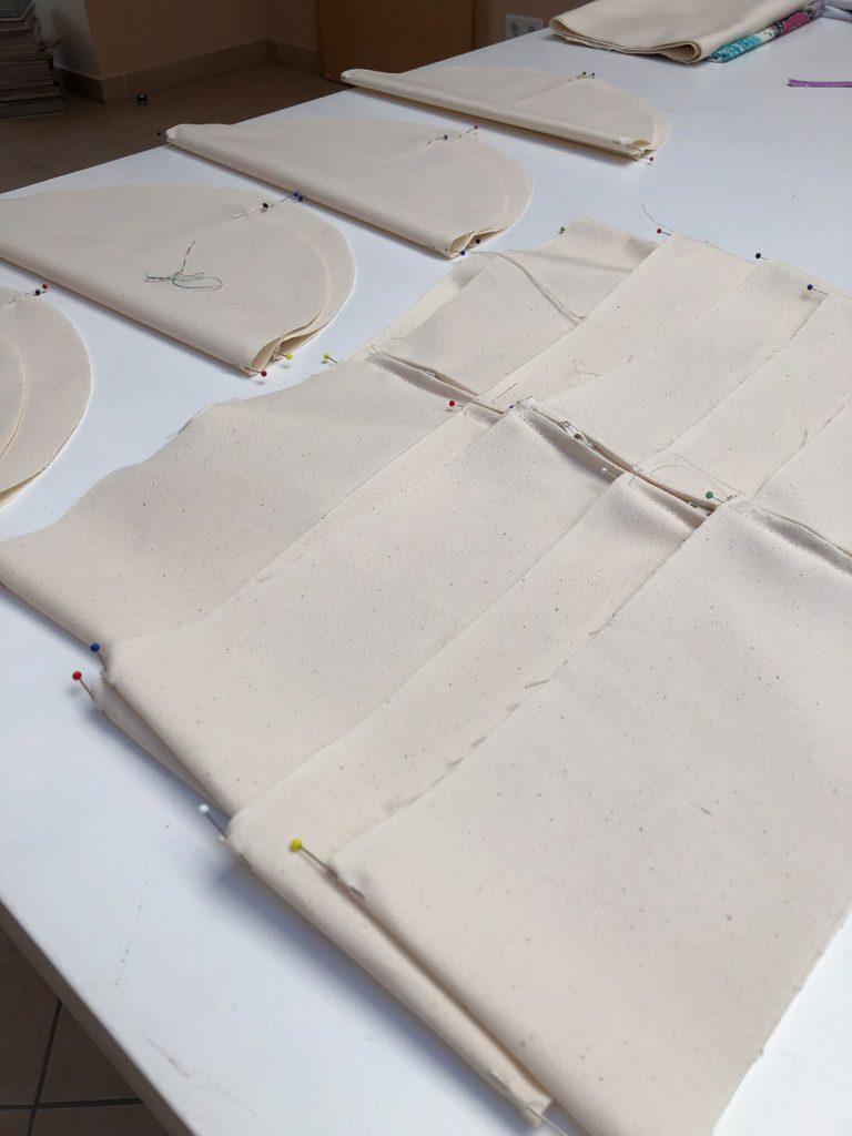 Baumwollzuschnitte für Inlett